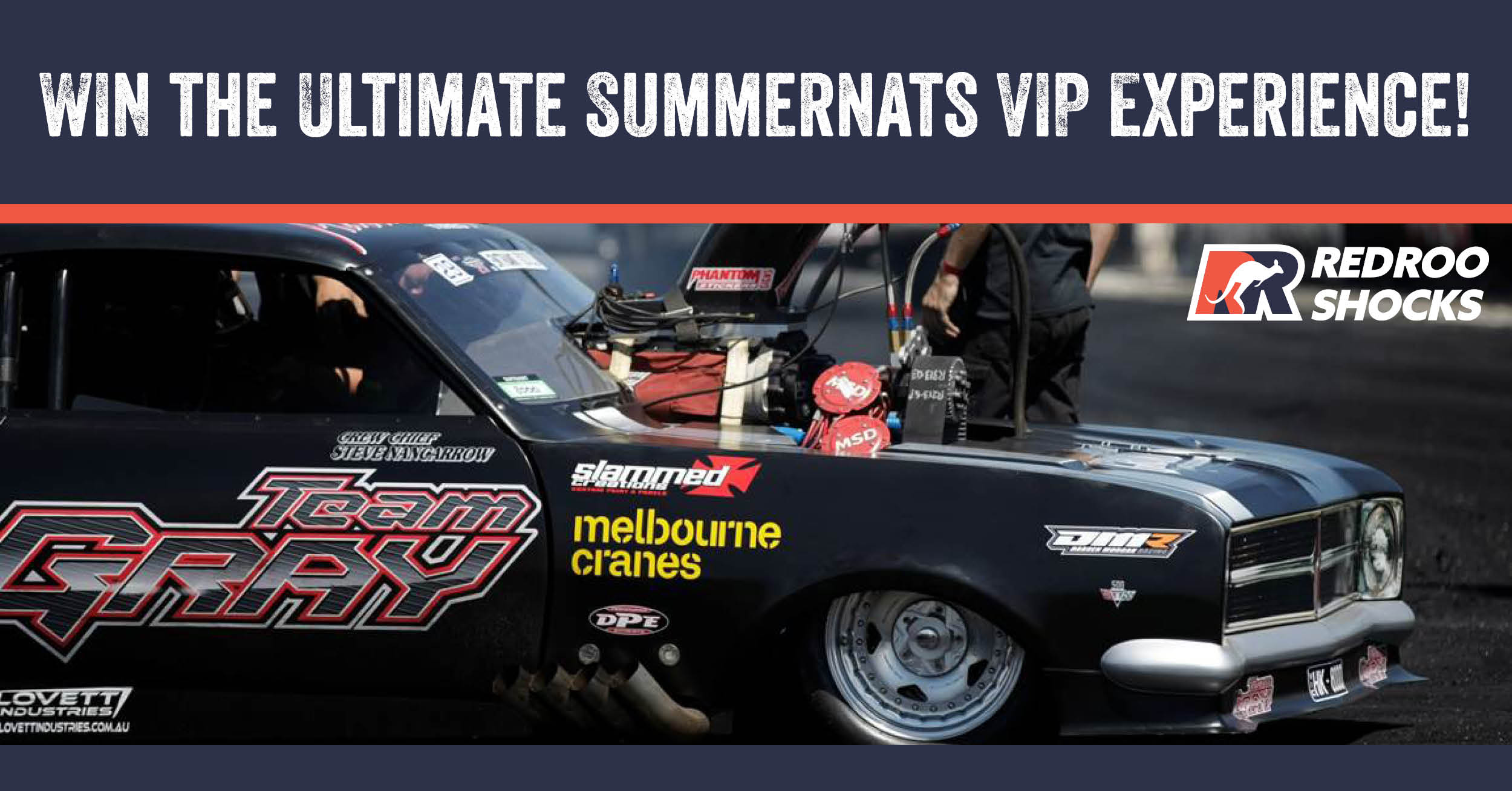 Win with RedRoo Shocks - Summernats VIP Experience